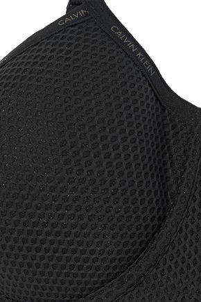 CALVIN KLEIN UNDERWEAR Stretch-mesh underwired push-up bra