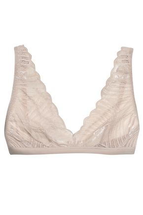 COSABELLA Minoa satin-trimmed lace soft-cup triangle bra