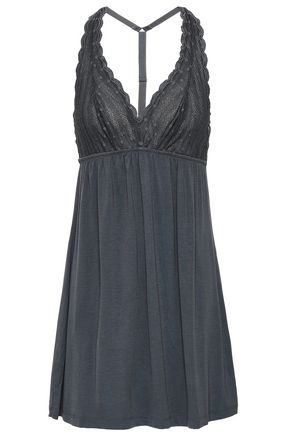 COSABELLA Point d'esprit and modal-blend jersey chemise