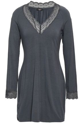 COSABELLA Point d'esprit-trimmed modal-blend jersey nightdress