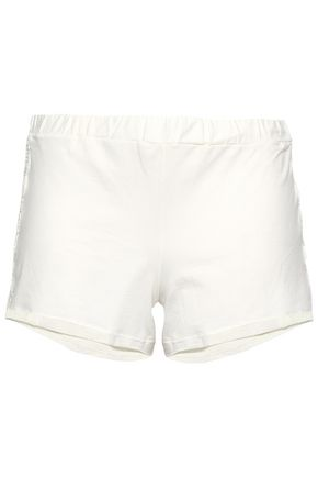 COSABELLA Lace-trimmed cotton-blend jersey pajama shorts