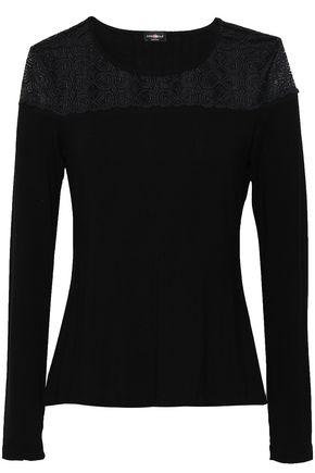 COSABELLA Lace-paneled modal-blend jersey pajama top