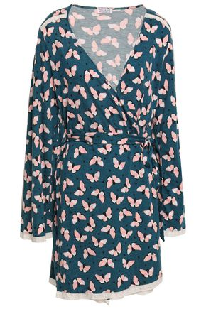 COSABELLA Printed Pima cotton and modal-blend jersey robe