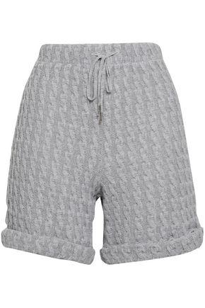 COSABELLA Cable-knit cotton-blend shorts