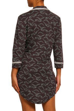 COSABELLA Printed Pima cotton and modal-blend jersey nightshirt