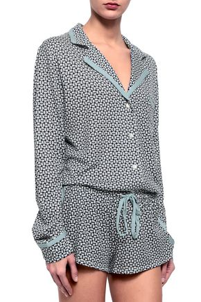 COSABELLA Printed Pima cotton and modal-blend jersey pajama set