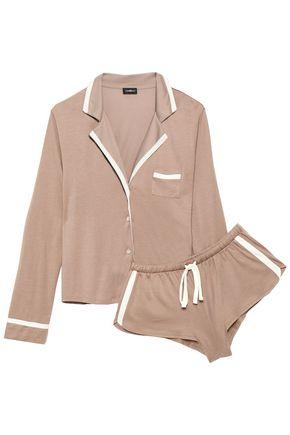 COSABELLA   Cosabella Pima Cotton And Modal-Blend Jersey Pajama Set   Goxip