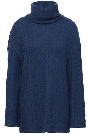 COSABELLA Cable-knit cotton-blend turtleneck top