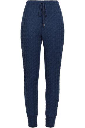COSABELLA Cable-knit cotton-blend track pants