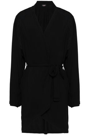 COSABELLA Lace-trimmed modal-blend jersey robe