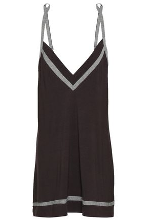 COSABELLA Striped modal-blend jersey nightdress