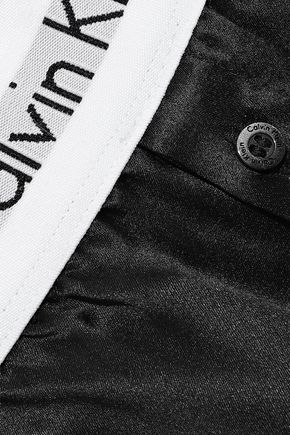 CALVIN KLEIN UNDERWEAR Button-detailed silk-satin pajama shorts
