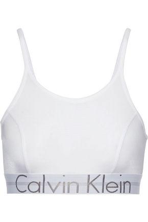 CALVIN KLEIN UNDERWEAR Printed stretch-jersey bralette