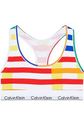 CALVIN KLEIN UNDERWEAR Printed stretch-cotton bralette