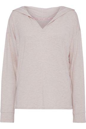 CALVIN KLEIN UNDERWEAR Mélange modal-blend jersey hooded pajama top