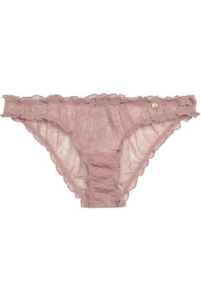LOVE STORIES Lolita ruffled lace low-rise briefs