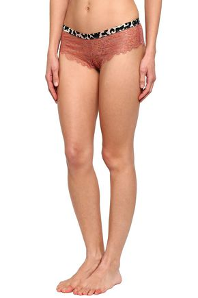 LOVE STORIES Corded lace low-rise briefs