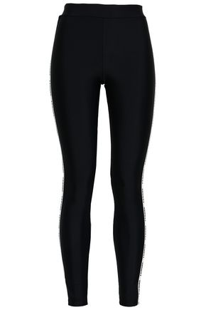 LOVE STORIES Monogram-trimmed stretch leggings