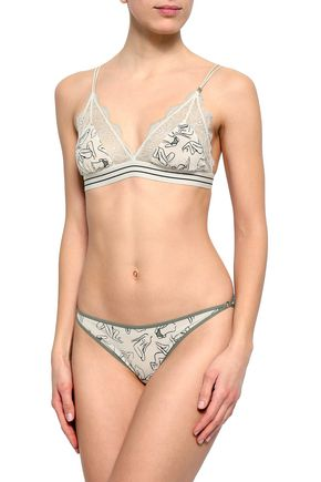 LOVE STORIES Printed jersey low-rise briefs