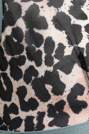 LOVE STORIES Leopard-print tulle triangle bra