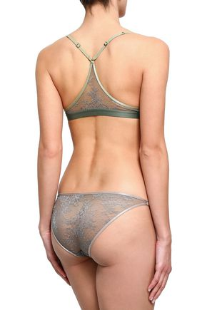 LOVE STORIES Nash embroidered lace low-rise briefs