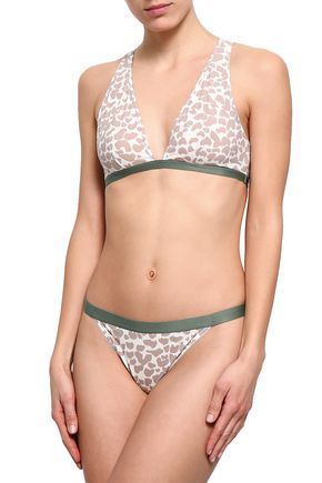 LOVE STORIES Holly leopard-print stretch-jersey triangle bra