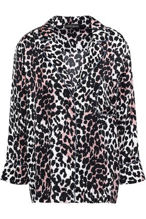LOVE STORIES Jude leopard-print twill pajama top