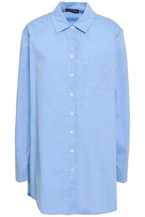LOVE STORIES Jones embroidered cotton-poplin shirt