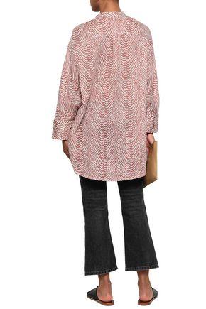 LOVE STORIES Lea zebra-print cotton-gauze tunic