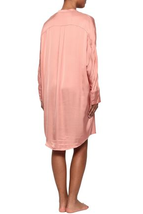 LOVE STORIES Lea lace-up satin nightshirt