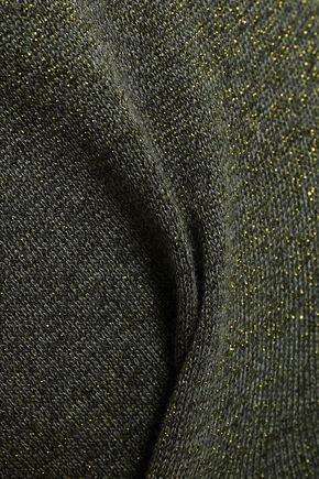 LOVE STORIES Casey metallic cotton-blend track pants