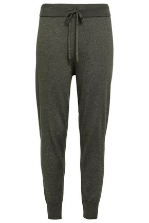 LOVE STORIES Casey metallic cotton-blend track pants
