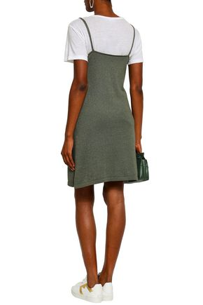 LOVE STORIES Cato metallic cotton-blend slip dress