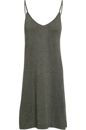 LOVE STORIES Cato metallic cotton-blend slip dress