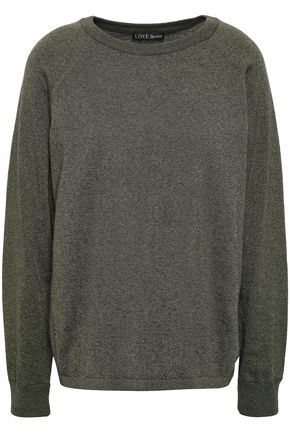 LOVE STORIES Jerry embroidered metallic cotton-blend sweater
