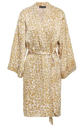 LOVE STORIES Jolie leopard-print sateen robe