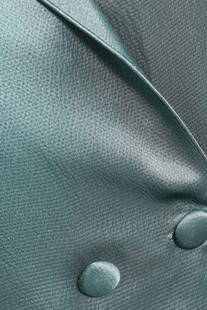 LOVE STORIES Heffner hammered silk-jacquard nightgown