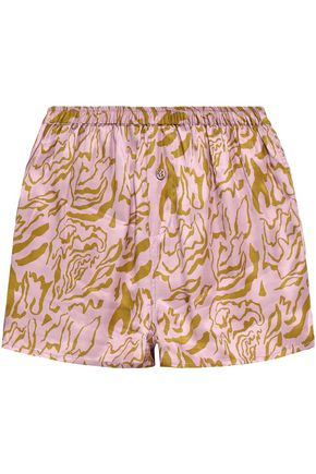 LOVE STORIES Sunday printed satin pajama shorts