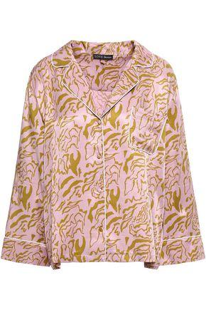 LOVE STORIES Jude printed satin pajama top