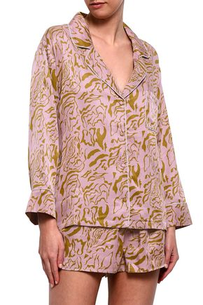 LOVE STORIES Jude printed satin pajama top