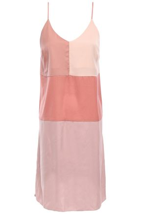 LOVE STORIES Cato color-block charmeuse chemise