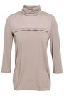 WOLFORD Layered virgin wool-blend jersey turtleneck top