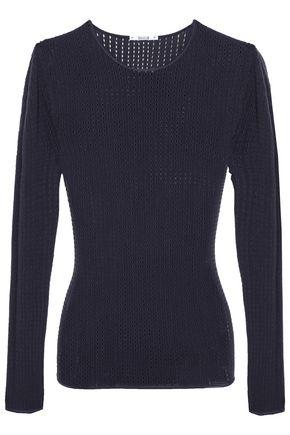 WOLFORD Janis open-knit virgin wool-blend top