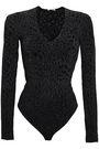 WOLFORD Crepe-satin maxi slip dress