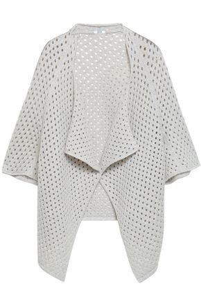 WOLFORD Skylight open-knit virgin wool-blend cardigan