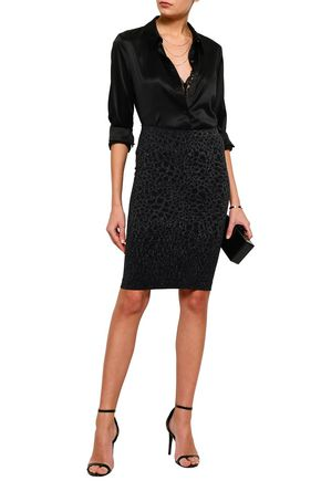 WOLFORD Ashley metallic animal-print jacquard pencil skirt