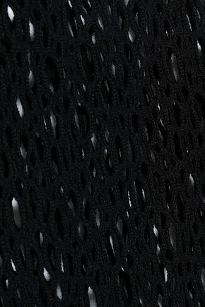 WOLFORD オープンニット ウール混 ソングボディスーツ