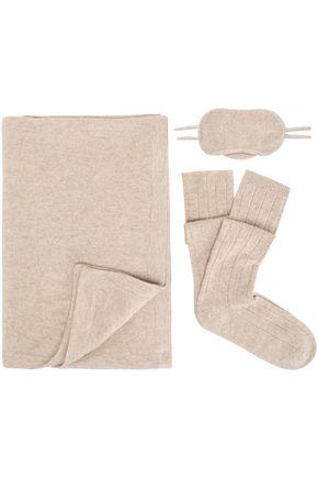 MADELEINE THOMPSON Mélange wool and cashmere-blend travel set