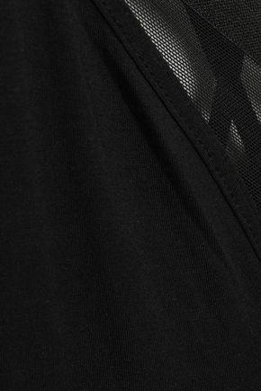 CALVIN KLEIN UNDERWEAR Tulle-paneled stretch-modal pajama top