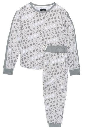 DKNY Mélange printed jersey pajama set